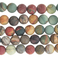 Round Gemstone Red Creek Jasper Matte beads