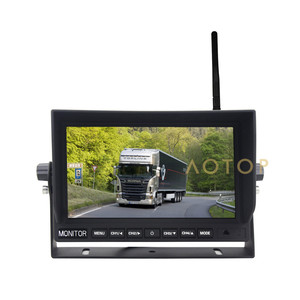 7 inch car monitor security ccd lens wireless night vision car camera system