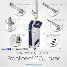 medical CE usa imported coherent rf tube fractional co2 laser