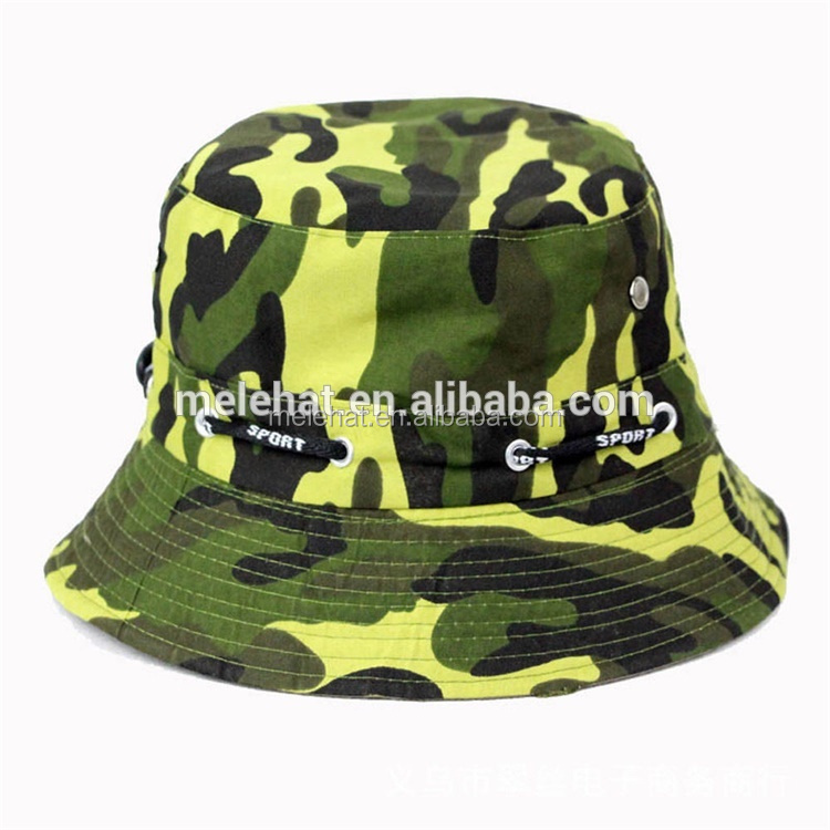 Mens Women Cotton Bucket Hat Custom,Sun Summer Outdoor Fishing Hat,Camouflage Military Cap