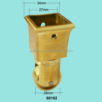 Solid Brass Caster With Square Cup For Furniture