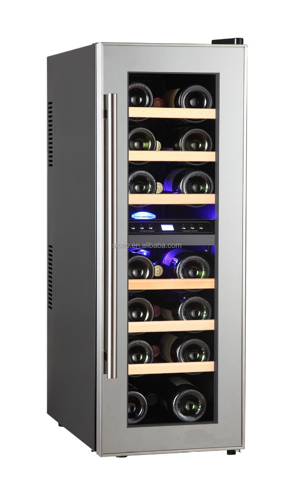 Glass Door Mini Bar Fridge Showcase Refrigerator,Slim Wine Cabinet ...
