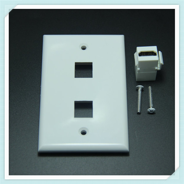 Multiple ports ABS HDMI VGA USB keystone wall plate for decoration