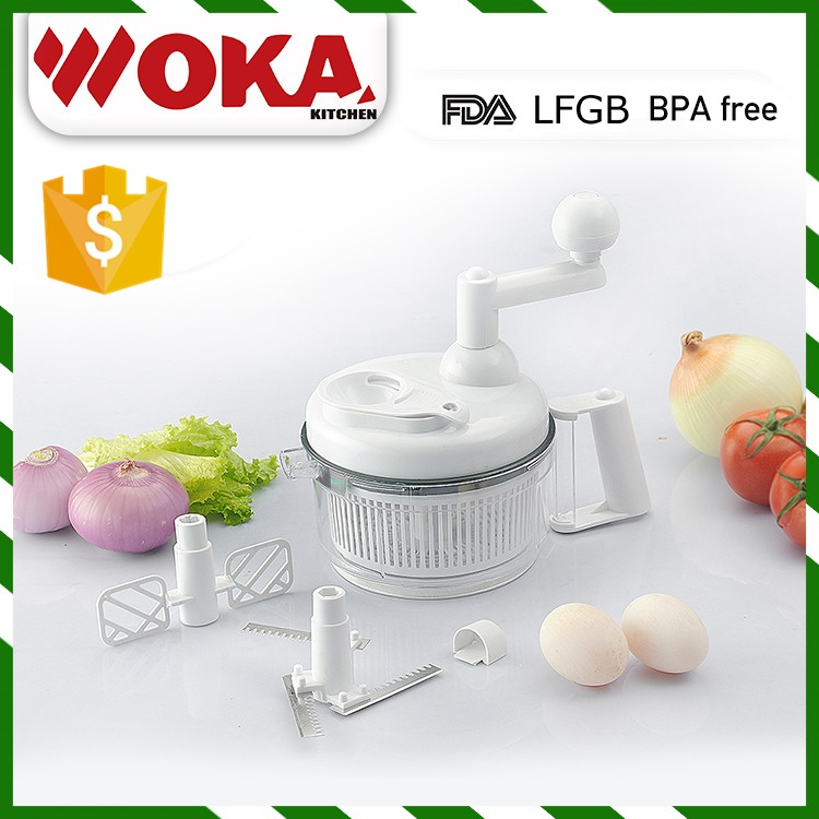 Robot da Cucina manuale, Filatore insalata Chopper e Turning Slicer