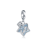 925 Sterling Silver CZ Star Dangle Charm Beads Fit Original Bracelet Women Jewelry Accessories