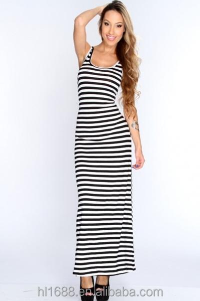 397c2f40817de9 Genoeg Lange jurk gestreept – Populaire jurken uit de hele wereld  FU14