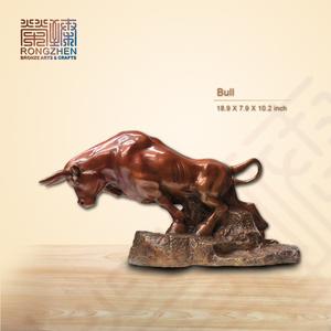 Bull modern metal art bronze sculpture