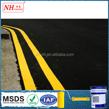 Cold solvent two component road marking paint