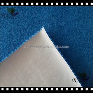 100% Environmental healthy Pass SGS CVC terry fabric laminated with milky tpu for baby bib/ breathable Baby use fabric