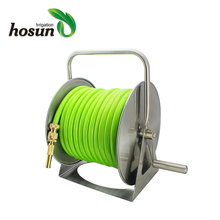 Ready to ship lower price garden irrigation portable metal water hose reel