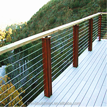 Galvanized Steel Deck Railing Stainless Cable Systems