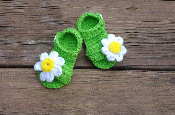 Blume Grün Sandalen Häkeln Babyschuhe Baby Mädchen Sandalen Buy