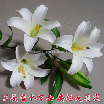 Pu artificial white lily flower fake calla lily flowers 100cmh pu artificial white lily flower fake calla lily flowers 100cmh single stem craft lily mightylinksfo