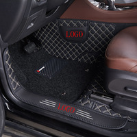 5d leather car mat new design leather car floor mat Cover the threshold customize LOGO car carpet