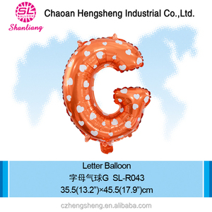 Mini foil print letter balloon weding decorations