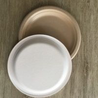 biodegradable and disposable sugarcane bagasse or wheat straw pulp dish 9 Inch Round Plate