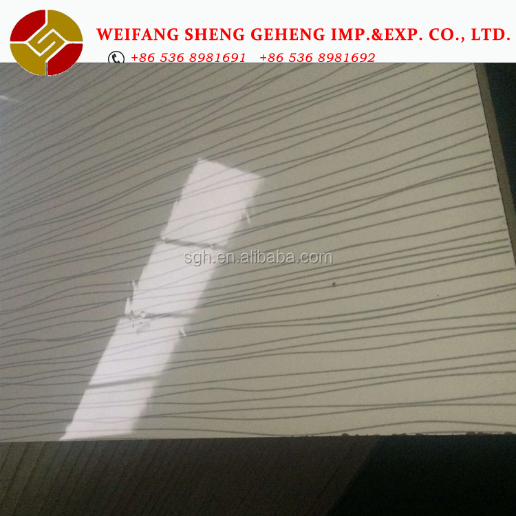 High Glossy Wood Grain UV Coated MDF Board /Wood Grain Melamine Parper Laminated