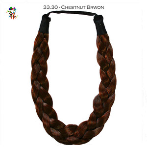 Natural Brown Girls Twist Plait Hoop Synthetic Hair Pieces Braids HPC-0180