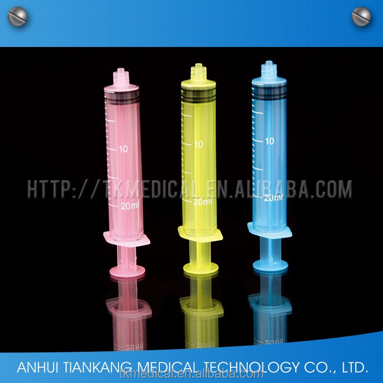Disposable Plastic 20ml colored syringe,syringe manufacturers