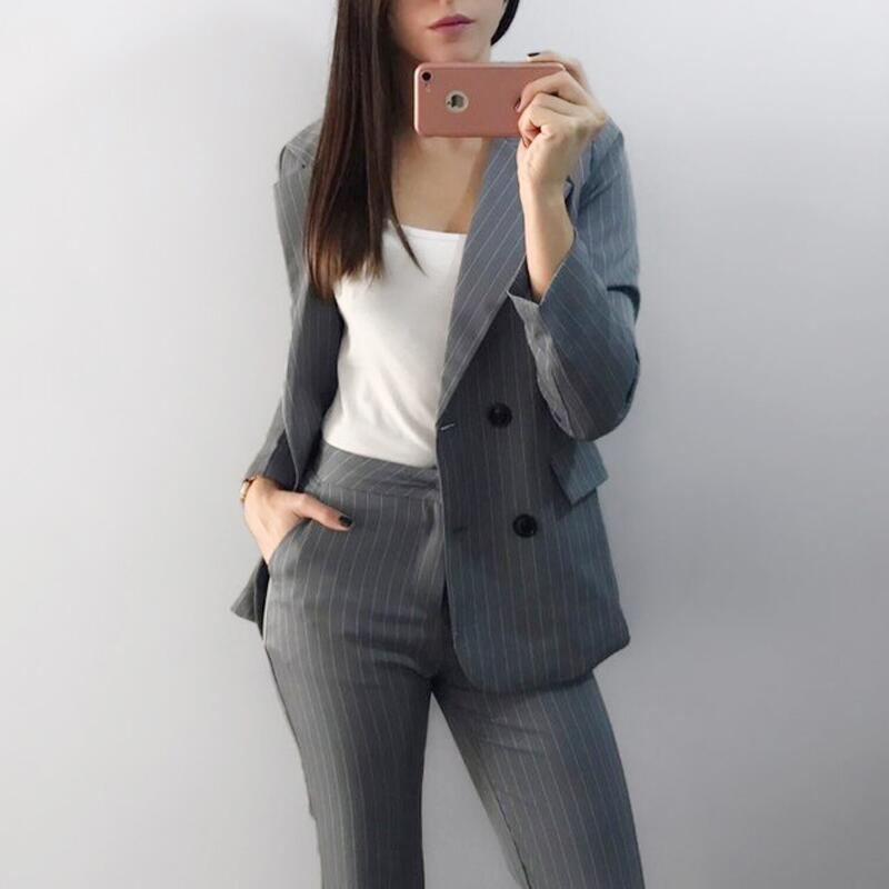 2018 High Quality Trendy Fashion Designer Ladies Office Pants Suits