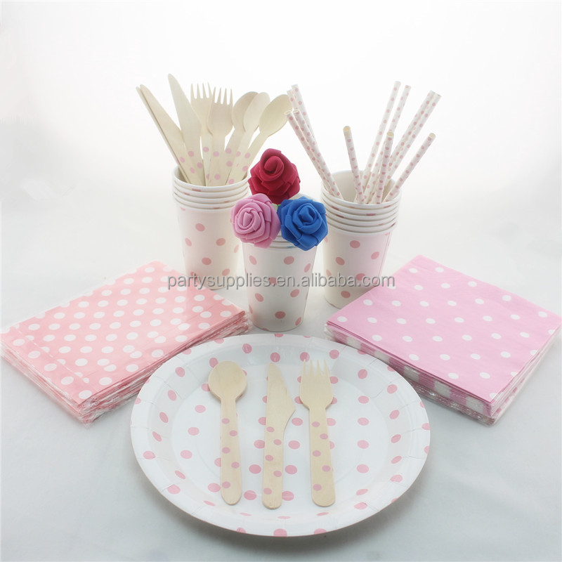 Factory Price Wedding Party Tableware Set DIY Party Supplies