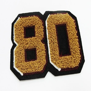 Heat Seal Chenille Varsity Numbers