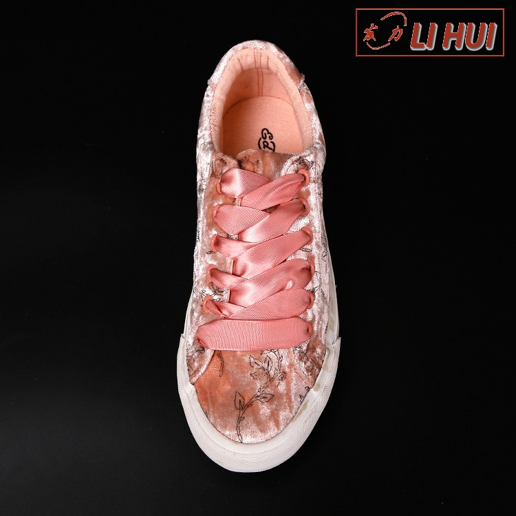 bulk types rubber flat sole low price canvas coloured women no lace casual canvas shoes