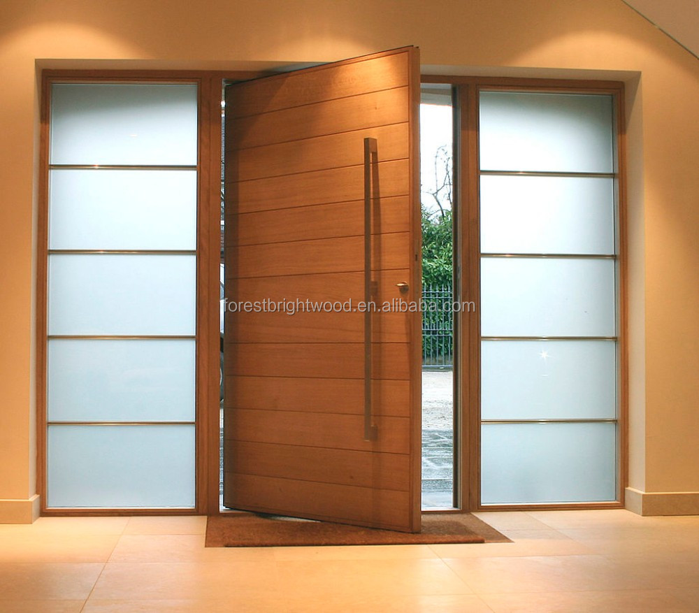 Einfache Teak Farbe Holz Main Eintrag Composite Tür Design - Buy ...