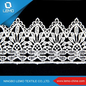 Wide used Elegant 3D embroidery organza lace fabric french voile lace for dress china wholesale