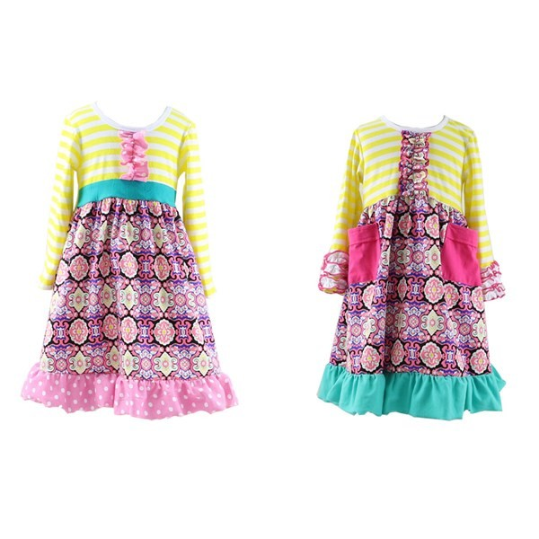 New 2016 Low Price Handmade Girls Fashion Dresses 7 Years Kids ...