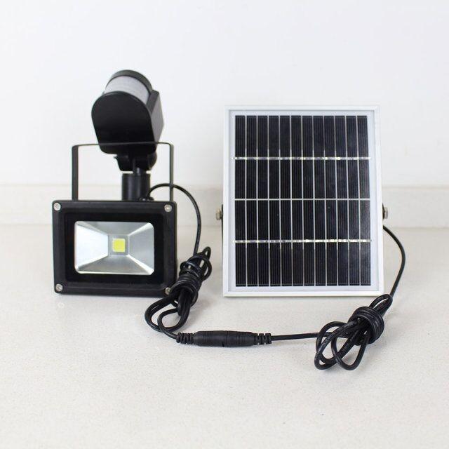 rechargeable pir motion sensor 5W 10W 20W 30W energy saving solar led flood light