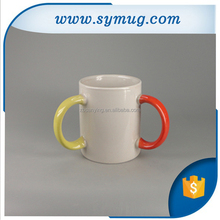 Unique Style Ceramic 3 Handle Mug with Creative Product design by Ship and Air Express