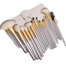 24 pcs 18 pcs 12 stuks Professionele Champagne Kleur Make-Up Kwasten Private Label Make-Up <span class=keywords><strong>Borstel</strong></span> Set <span class=keywords><strong>Klassieke</strong></span> Houten Handvat