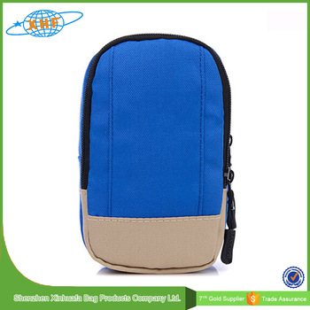 Simple Color Mix Waist Bag With Mobile Phone