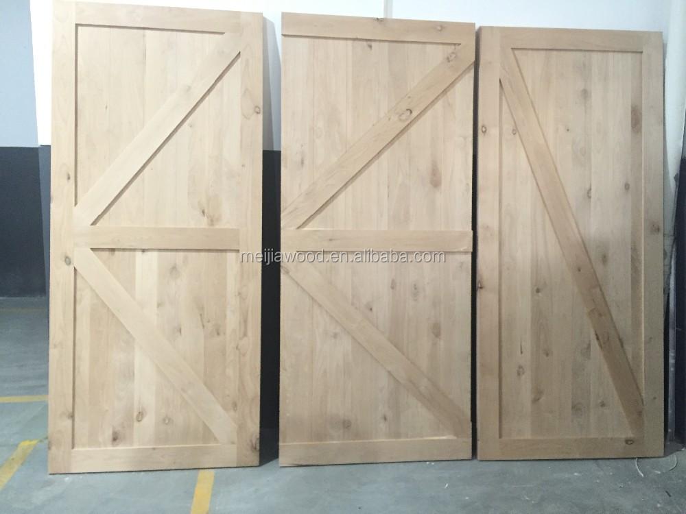 Two horizontal slats rustic simple solid wood interior for 6 horizontal panel wood doors