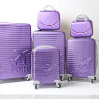 6pcs set luggage bag travel suitcase carry on vintage trolley for women