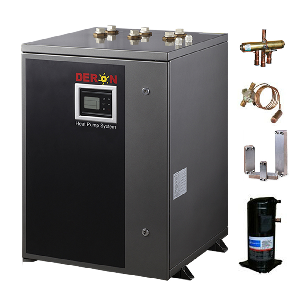 2017 Innovative water/ ground source heat pump geothermal instant water heater R410a gas for DHW system and hydronic heating