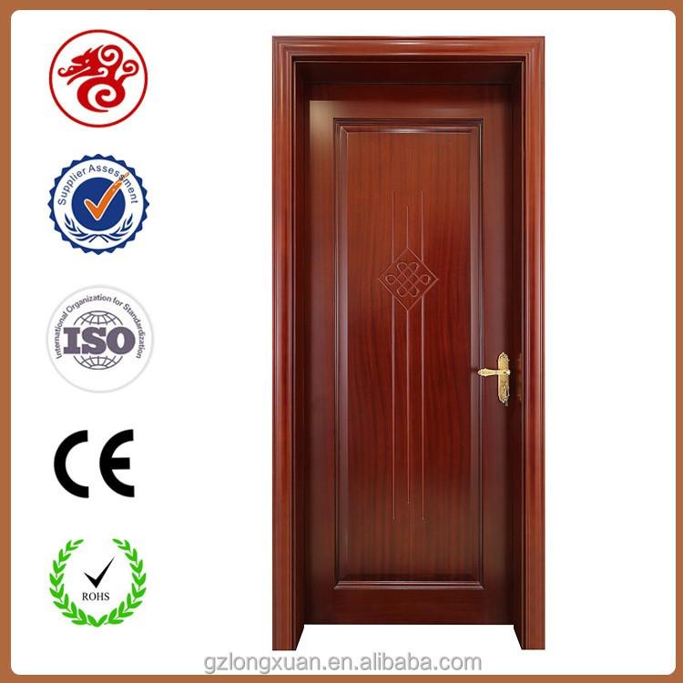 Door flat update your flat doors with this diy molding for Flat solid wood door