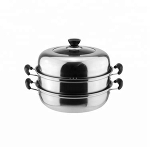 Stainless Steel Steamer Pot Two Layer Cookware Cooking Pot