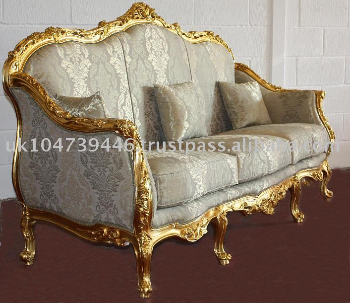 Louis Xv Gold Gilt Sofa