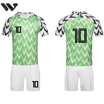 b8d06075f New Design Popular 2018 Nigeria National Team Sublimation Soccer Jersey  Uniform