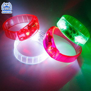 Hot Selling Sound Control LED Rave Party Bracelet For Promotion Gift