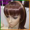 2016new arrive ombre brown synthetic hair wigs for lady ,medium length wigs for young women