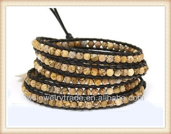 5 Wrap Yoga Bracelet Picture Stone Beaded