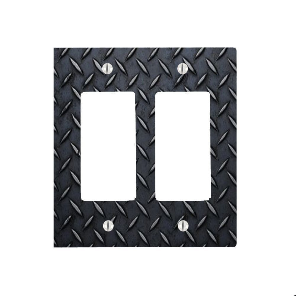 Cheap sheet metal diamond plate find sheet metal diamond plate get quotations black diamond plate sheet metal with grooves 2 gang decorator dimmer wall plate 475 x jeuxipadfo Choice Image