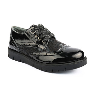 kids girl black patent keens casual shoes children honey italian flat shoes wholesale in china with lace