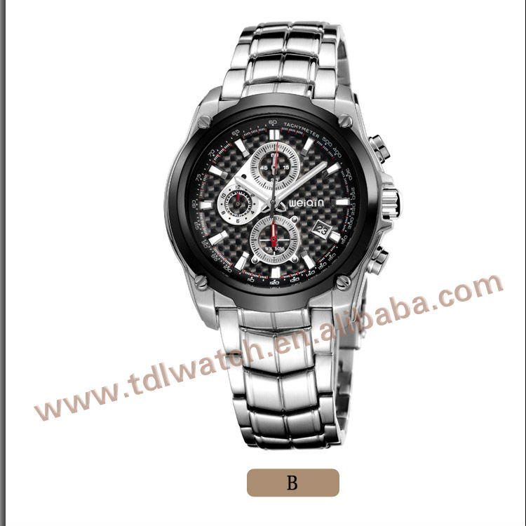 W2174 High Quality Mens 3 dials watches sport