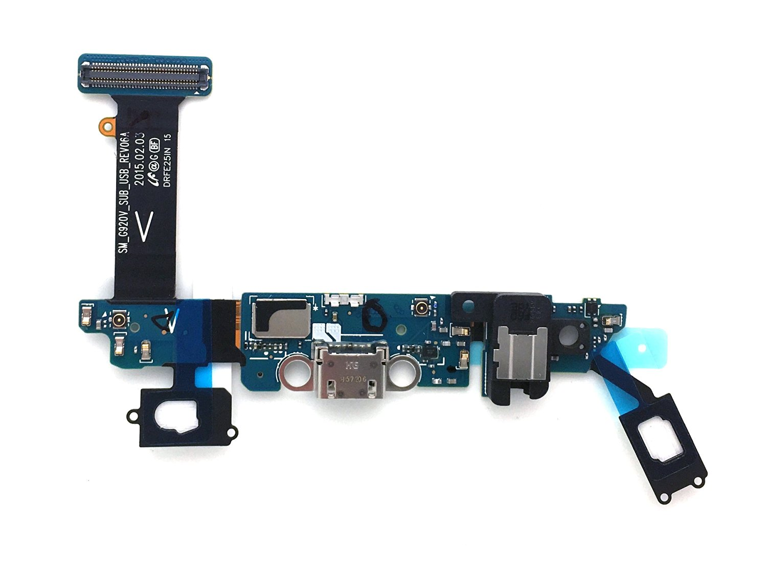 SBOS® Samsung Galaxy S6 G920V Verizon Charging Port Flex Cable Dock Connector USB Port With Mic Microphone Flex Cable Repair Part G920V