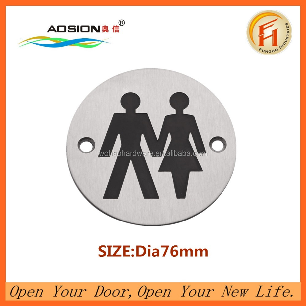 New design hotel female&male toilet door sign