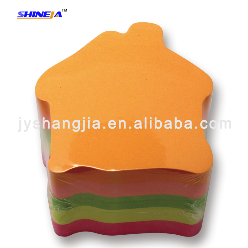 House shaped sticky note pad for children
